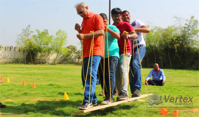 Participants during a task